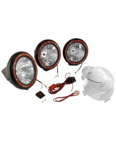 7-In Round HID Offroad Light Kit Blk Composite Hou