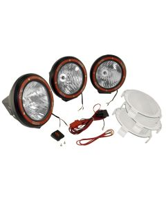 5-In Round HID Offroad Light Kit Blk Composite Hou