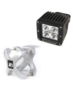 Large X-Clamp & Square LED Light Kit, Silver, 1-Pc