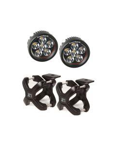 Small X-Clamp & Round LED Light Kit, Black, 2-Pc.