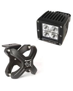 Small X-Clamp & Square LED Light Kit, Text. Black