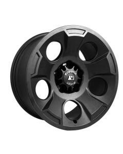 Drakon Wheel, 17X9, Black Satin; 07-20 Jeep JK/JL/JT
