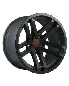 Jesse Spade Wheel, 17X9, Black Satin; 07-20 JK/JL/JT