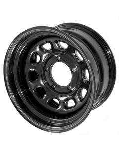 Blk D Window Wheel 15x10-in 5x4.5-In bolt pattern