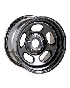 Black Steel Wheel, 17x9; 07-20 Jeep JK/JL/JT