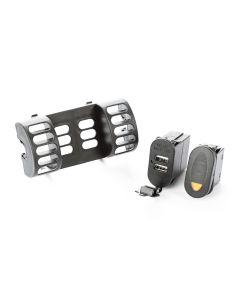 AC Vent Switch Pod, 1 Switch, USB; 97-06 TJ/LJ