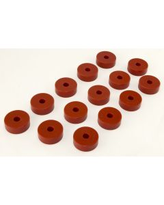 Body Mount Kit, Red, 55-73 CJ, 14 Pieces