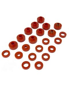Body Mount Kit, Red, 76-79, 22 Pieces