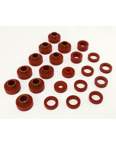 Body Mount Kit, Red, 80-86 CJ7, 22 Pieces