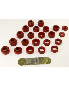 Body Mount Kit, Red, 87-95 (YJ), 22 Pieces