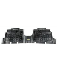 Floor Liner, Rear; Black, 2007-2018 Jeep Wrangler Unlimited JK 4 Dr