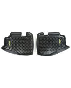 Floor Liner, Rear; Black, 1997-2006 Jeep Wrangler TJ / LJ