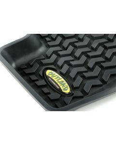 Floor Liner, Rear; Black, 2007-2012 Dodge / Jeep Caliber / 07-17 Compass / Patriot MK