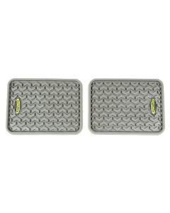 Floor Liner, Rear; Gray,  Universal