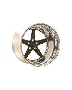 Weld Racing 71LB7090A60A 17X9.0 S71 Blk Ctr 5X4.5 5.9BS(25mm O/S) low