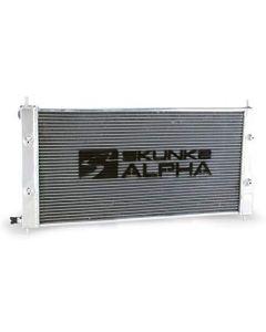 Skunk2 Racing 349-12-1000 Alpha Series Radiator 1.5 in. Inlet/Outlet Dual Core Design w/o Radiator Cap Aluminum Alpha Series Radiator