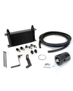 Skunk2 Racing 626-12-0050 Oil Cooler Kit 330x163x50.8mm Incl. Sandwich Plate Adapter/8AN Fittings/Hose/Clamps/19-Row Oil Cooler/Mounting Brackets -10AN Inlets/Outlets 6061 Aluminum Oil Cooler Kit
