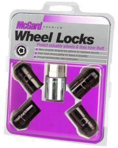 Cone Seat Wheel Lock Set; Set of 4 Locks and 1 Key