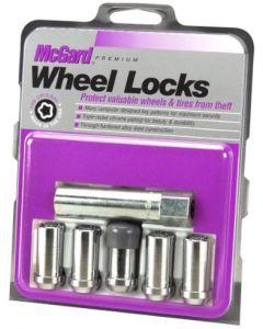 Tuner Style Cone Seat Wheel Lock Set; Set of 5 Loc