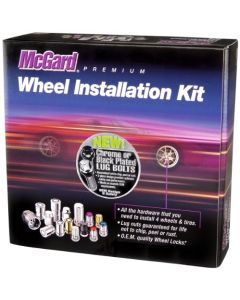 McGard 67205BK Chrome/Black M14 x 1.5 Thread Size Cone Seat Lug Bolt Wheel Installation Kit for 5 Lug Vehicles