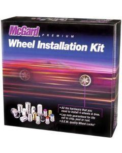 """McGard 84563BK Chrome/Black (1/2"""" - 20 Thread Size) Bulge Cone Seat Style Wheel Installation Kit for Jeep Wrangler - 23 Piece"""