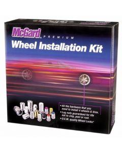 McGard 84617 Chrome/Black (M14 x 2.0 Thread Size) Cone Seat Wheel Installation Kit for 6-Lug Wheels
