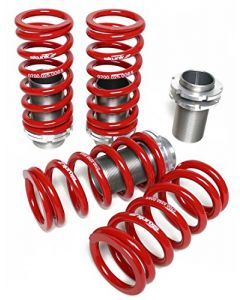 Skunk2 Racing 517-05-0740 Coilover Sleeve Kit Front 8K/6K Rear Spring Rates 0-3.5 in. Lowering Adjustment Incl. Forged Spring Perches/Aluminum Sleeves Set of 4 Coilover Sleeve Kit