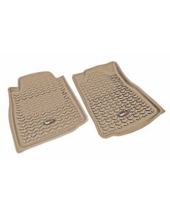 Floor Liner, Front; Tan, 2005-2011 Toyota Tacoma Regular / Access / Double Cab (Automatic)