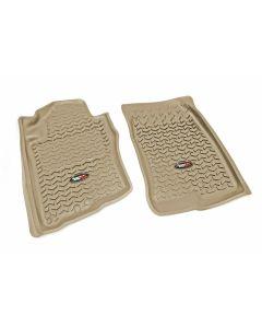 Floor Liner, Front; Tan, 2005-2012 Nissan Pathfinder, 05-15 Xterra