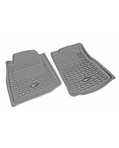 Floor Liner, Front; Gray, 2005-2011 Toyota Tacoma Regular / Access / Double Cab (Automatic)