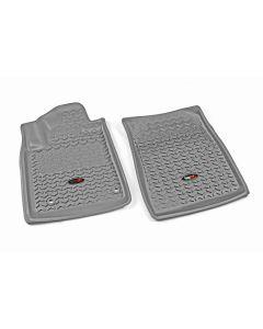 Floor Liner, Front; Gray, 2012-2019 Toyota Sequoia / Tundra Regular / Double Cab / Crew Max