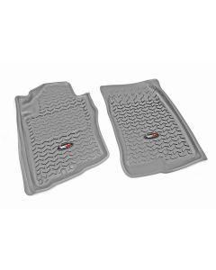 Floor Liner, Front; Gray, 2005-2012 Nissan Pathfinder, 05-15 Xterra