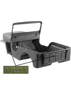Body Tub Kit with Willys Script, 53-68 Willys CJ3B