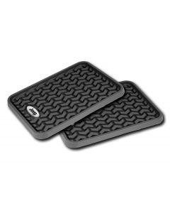 Floor Liner, Rear; Black, Universal Jeep Logo