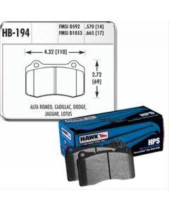 HPS Brake Pads; FMSI ID, D1053