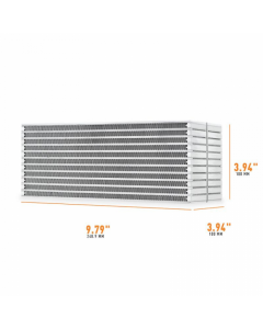 Mishimoto Universal Air-to-Water Intercooler Core - 9.8in / 3.8in / 3.8in