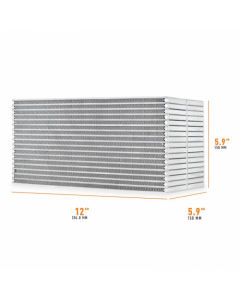 Mishimoto Universal Air-to-Water Intercooler Core - 12in / 6in / 6in